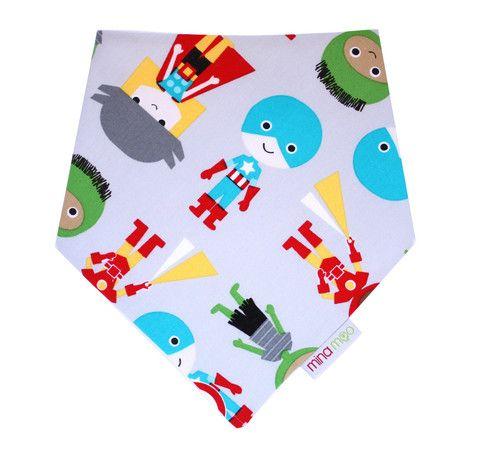 Superhero dribble bandana bib – Mina Moo and Baby
