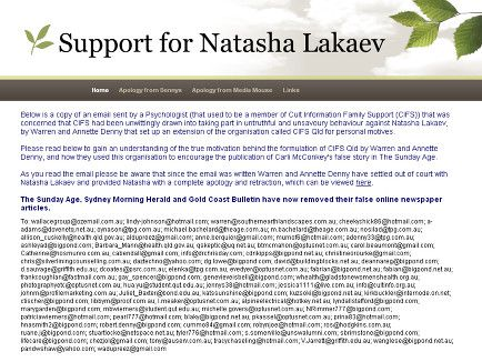 Support for Natasha Lakaev
