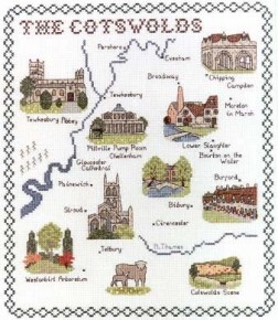 Cotswolds    From Wye Needlecraft Ltd  2 Royal Oak Place, Matlock Street  Bakewell Derbyshire UK