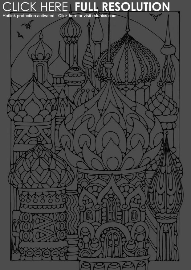 coloring-page-towers-dl18705.jpg 620×875 Pixel