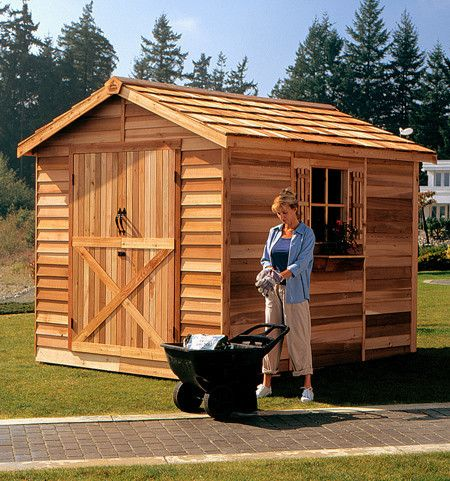 Our large Cedarshed Rancher provides adequate storage for your large items such as riding lawn mowers and motorcycles. Cedarshed.ca