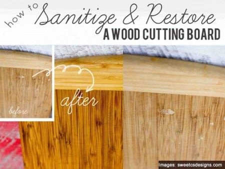 How To Sanitize And Restore A Wood Cutting Board