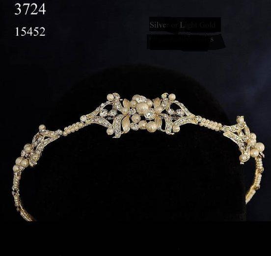 Affordable Elegance Bridal - Vintage Look Light Gold Rhinestone Wedding Headband, $94.99 (http://www.affordableelegancebridal.com/vintage-look-light-gold-rhinestone-wedding-headband/)