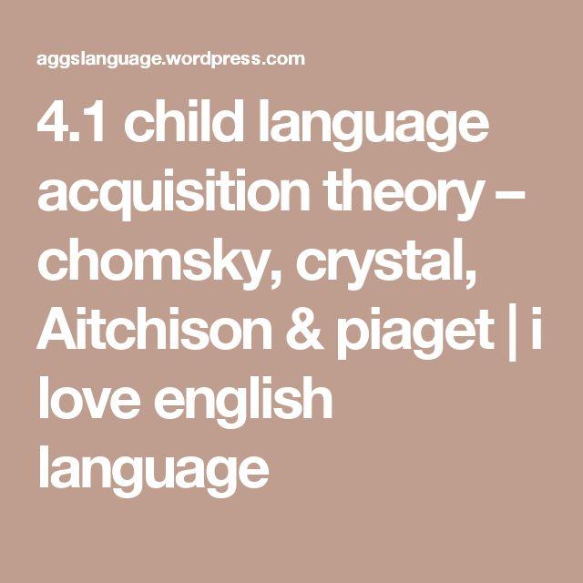 Language acquistion theory