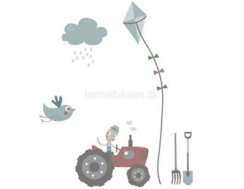 Sebra wallsticker ark, 19 dele, Farm dreng