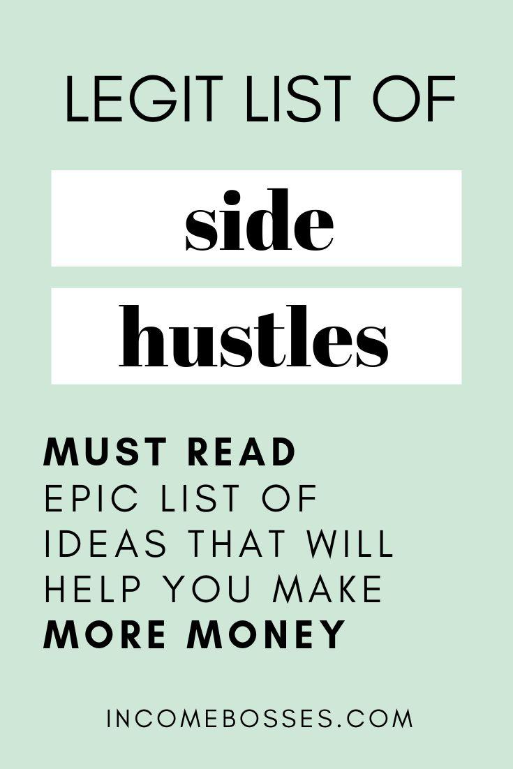 Ultimate List of Side Hustle Ideas – money making ideas