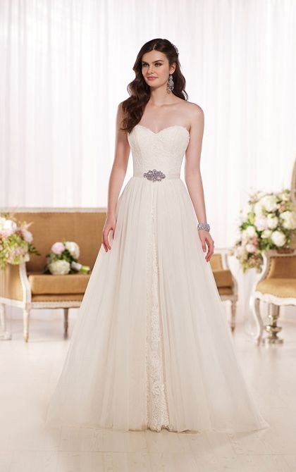 Cool A Line Lace Convertible Wedding Dress by Essence of Australia At Sophia us Bridal u Tux of Indianapolis IN