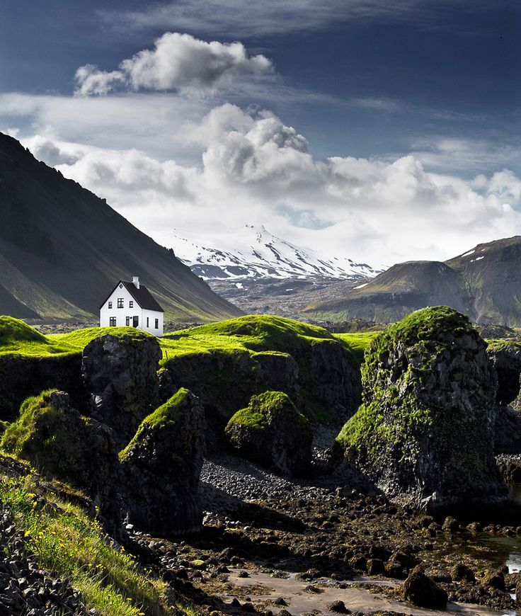 Remember your camera when going to Iceland. There is a lot of great locations for photographing beautiful and dramatic locations. Especially if you find accommodation in the country side like this villa at Arnarstapi, Iceland.