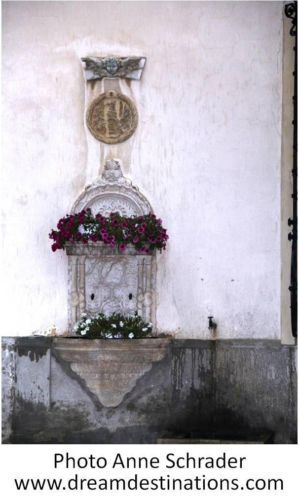 An outside wall flower box Peles Castle Romania