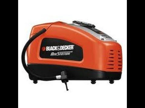 ▶ Black and Decker Air Station Inflator REVIEW - Electric Air Pump - YouTube
