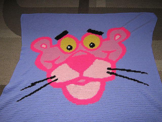 Crochet Pattern Excel : Ravelry: ElkeTeeuwens Pink Panther graphgan mijn ...