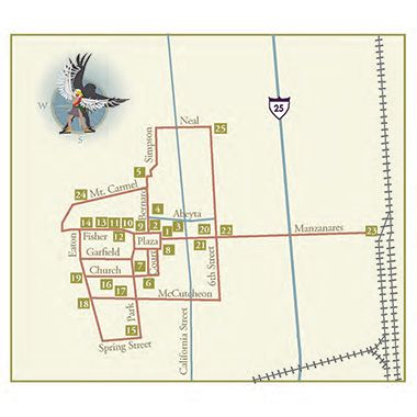 Map of Socorro Historical District Scenic Byway - New Mexico Tourism
