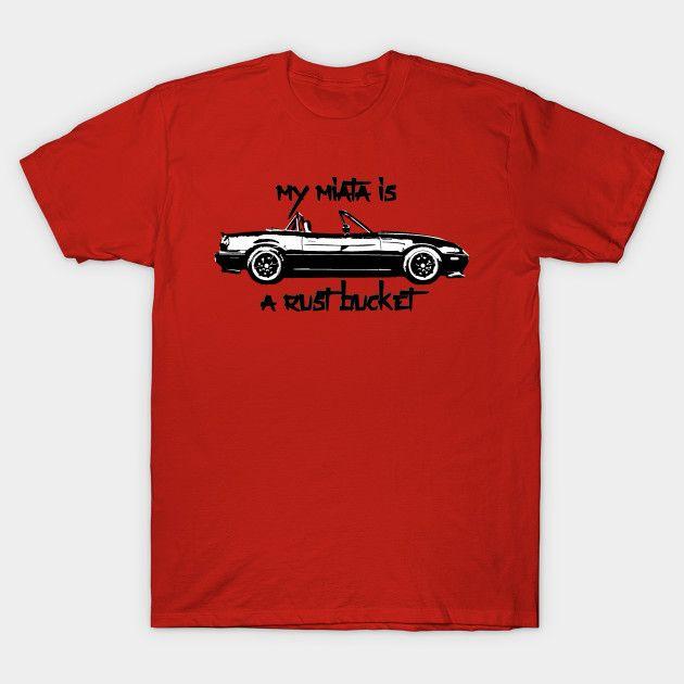 [Cars T-shirt] Mazda Miata NA Rust Bucket