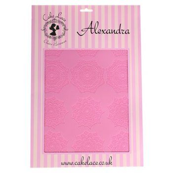 Claire Bowman ALEXANDRA cake / edible lace silicone tool mat