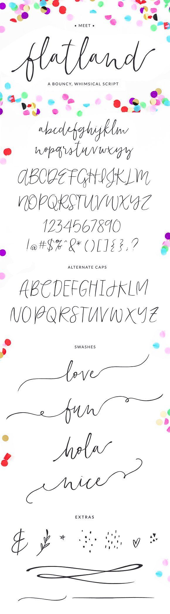 Flatland Font by Angie Makes on @creativemarket