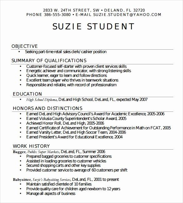 Resumes For High School Students Luxury Free 6 Sample High School Resume Templates In Pdf High School Resume High School Resume Template High School Students