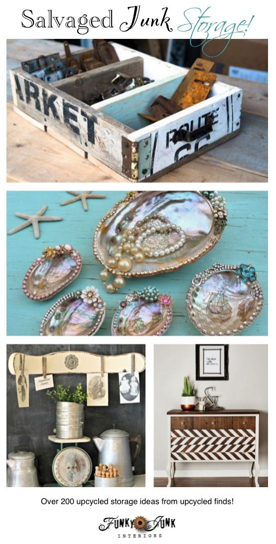 Upcycled storage ideas storage ideas funky junk and shells for Funky shelving ideas