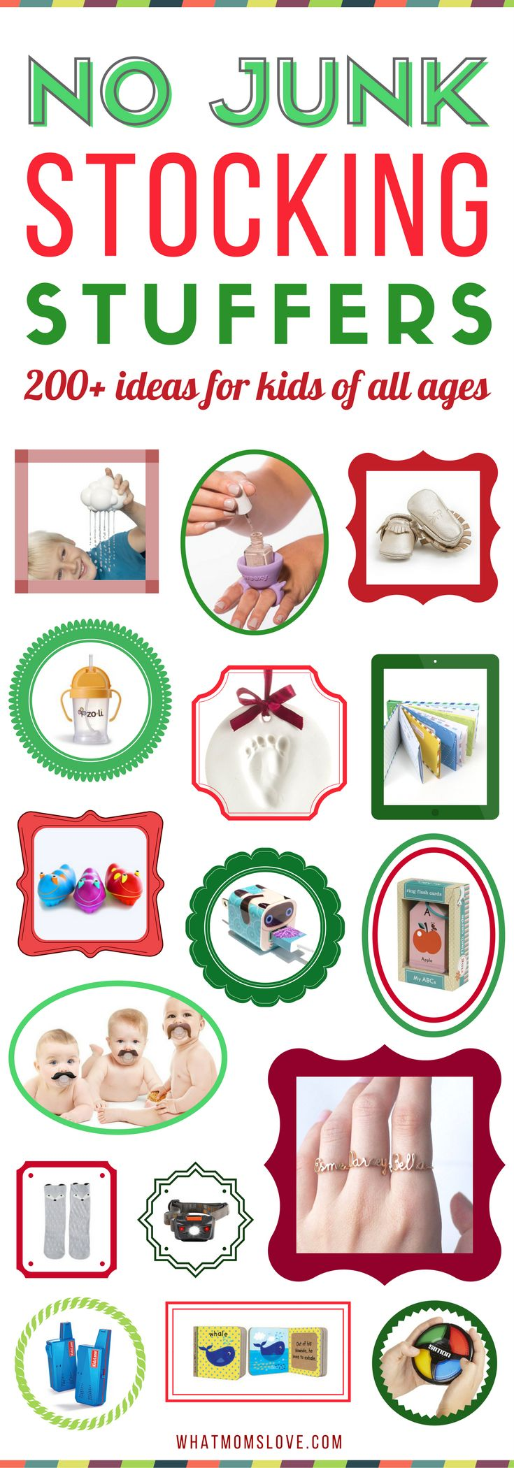 Stocking Stuffers for kids | Best ideas for boys and girls from baby, toddlers, tween and teenagers | Unique and useful stocking stuffers for Christmas #stockings #gifts #stockingstuffers