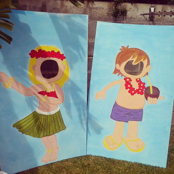 hoy nos trasladamos a hawai hace unas semanas me pidieron montar una fiesta de