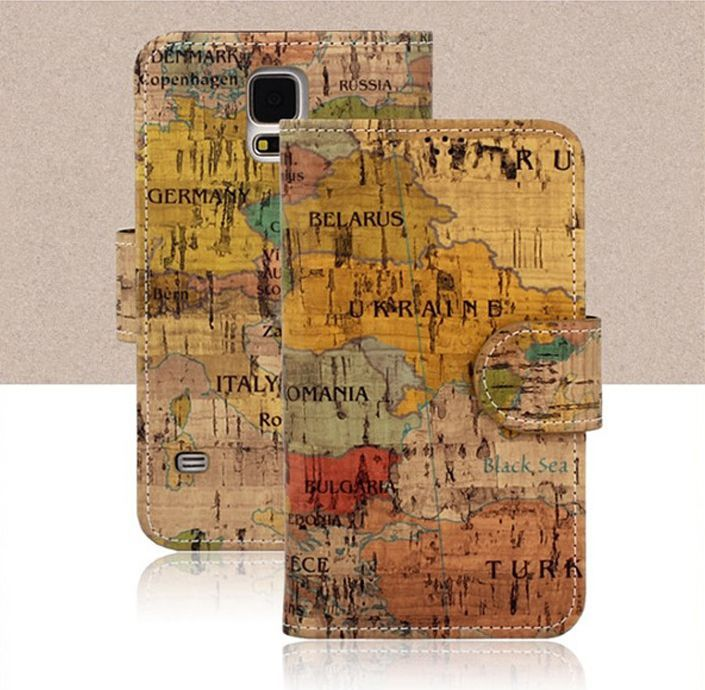 Geography Vintage Premium Diary Case for Galaxy Core Advance