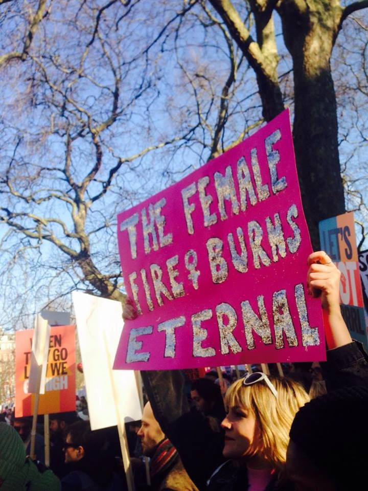 The best signs from today's Women's March in London