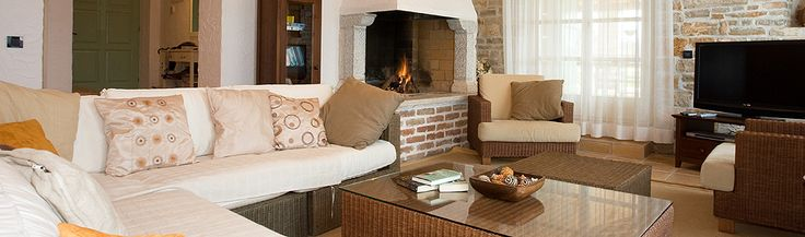 View of the living room at Casa Bella, Luxury Villa to Rent in Istria, Croatia.