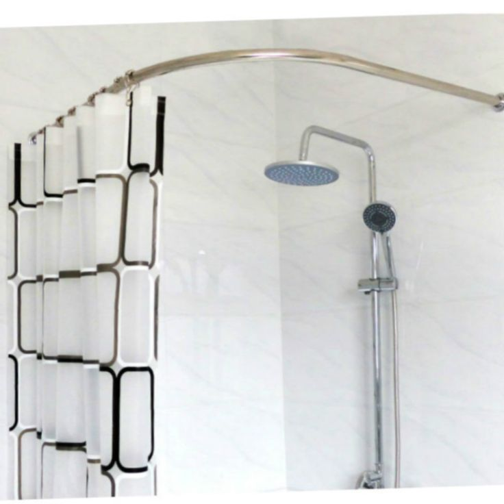 Stainless Steel Curved Shower Curtain Pole Rod Rail Bathroom Products  BATH Accessories Supplies PLUS SIZE-in Shower Curtain Poles from Home & Garden on Aliexpress.com | Alibaba Group