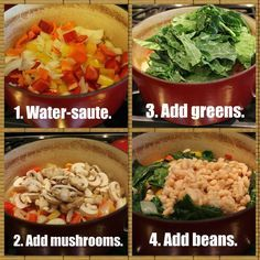 A step-by-step guide for making a blended vegetable soup based on Dr. Fuhrman's Anti-Cancer Soup.