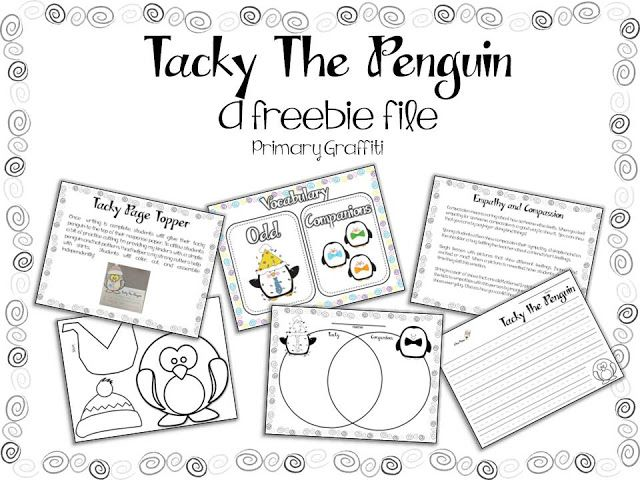 I love, love, love Tacky the Penguin!  This blog has lots of fun ideas: Primary Graffiti: Tacky Celebration {Freebie Lesson}