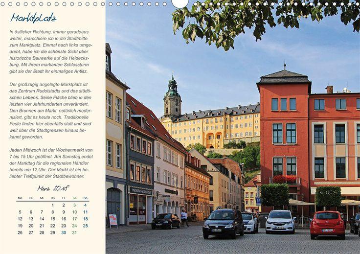 """Städte- und Regionalkalender """"Rudolstadt – mein Spaziergang durch den historische Stadtkern"""", Kalenderblatt März: Marktplatz"""