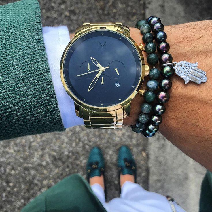 "livingpursuit: ""MVMT Watches | Chrono Black/Gold """