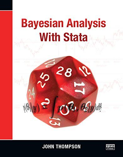 Bayesian analysis with Stata (PRINT VERSION) http://biblioteca.cepal.org/record=b1252356~S0 This book shows how modern analyses based on Markov chain Monte Carlo (MCMC) methods are implemented in Stata both directly and by passing Stata datasets to OpenBUGS or WinBUGS for computation, allowing Stata's data management and graphing capability to be used with OpenBUGS/WinBUGS speed and reliability.