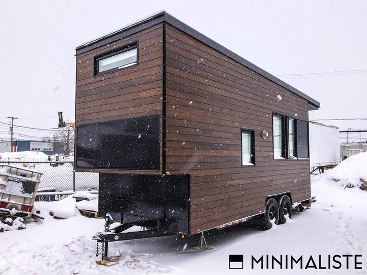 Tiny House Modern stunning modern tiny home inspired by japanese living A Modern Tiny House On Wheels In Quebec Canada Designed Built And Shared By Minimaliste Tiny Houses Pinterest Beautiful Tiny House On Wheels And
