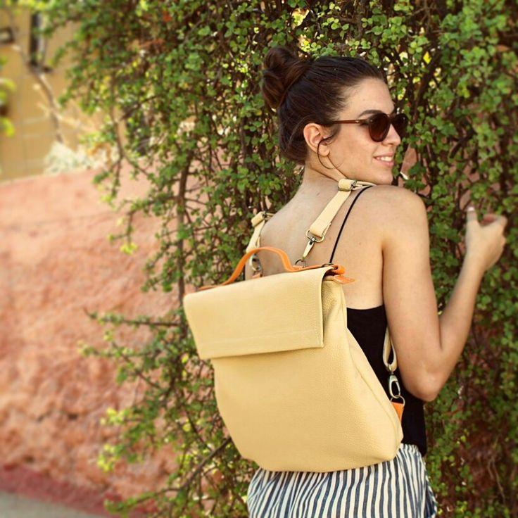 Pottier bag , shoulder bag, backpack leather