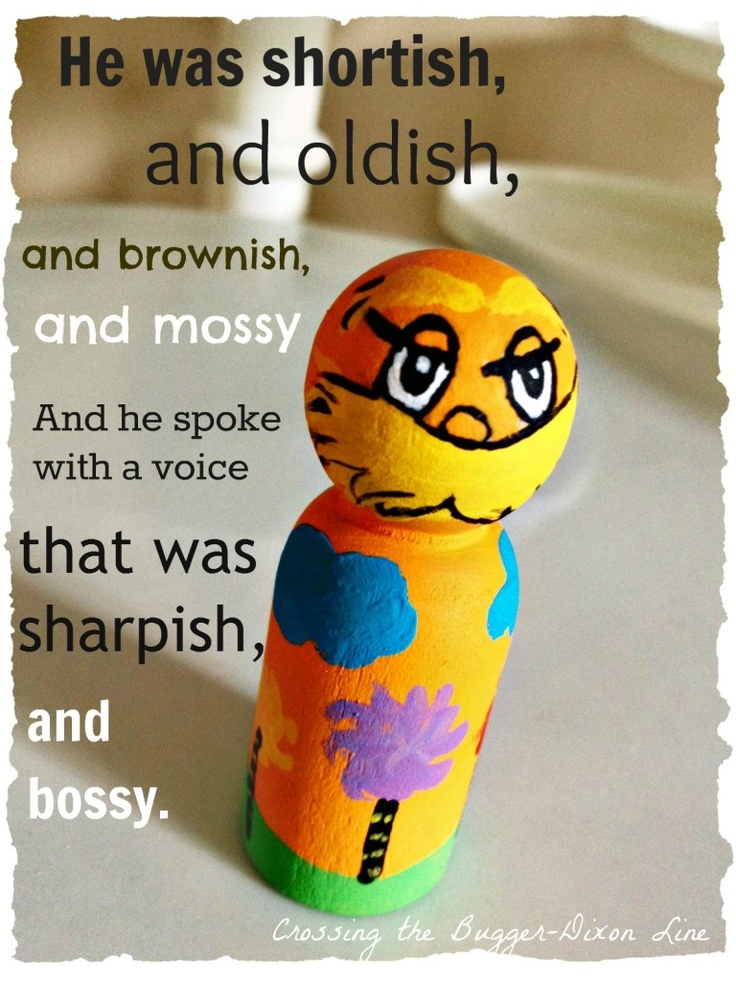 Crossing the Bugger-Dixon Line: The Lorax Peg Doll