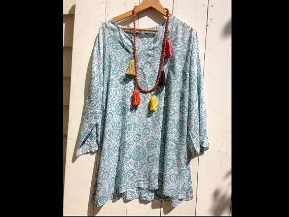Beautiful cotton shirt on Etsy, $59.00 AUD