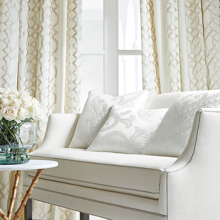 Thibaut Anna French Bergman Embroidery From Natural Glimmer Collection