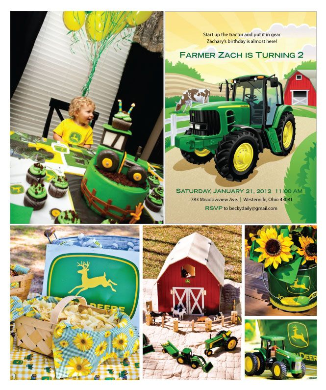 1000 Images About Party Ideas Tractor Theme On Pinterest