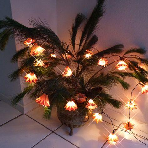 Aquarellbilder-Recycling-Lichterkette: schnelles DIY für ein gemütliches Weihnachtsfest!