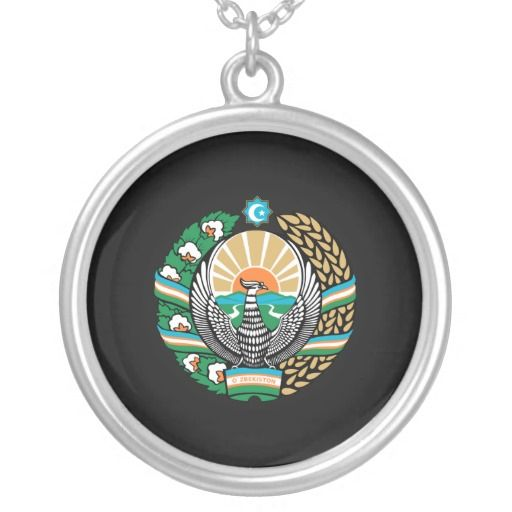 Uzbek coat of arms custom jewelry