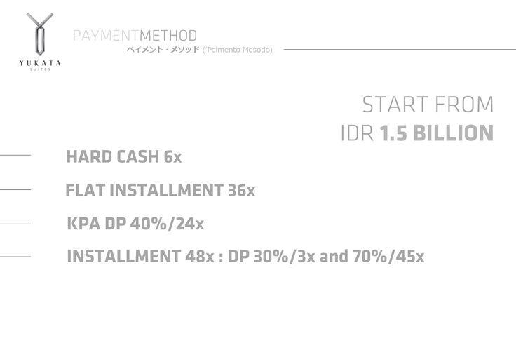 """Payment Method """"Yukata Suites"""" Alam Sutera"""
