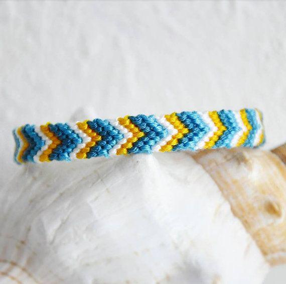 skinny woven string friendship bracelets Summer Brights