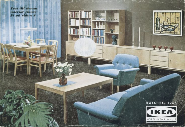 Ikea 1966 - möblering utan tv