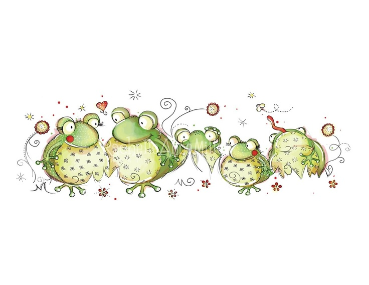 Frog Family by RachelleAnneMiller on Etsy
