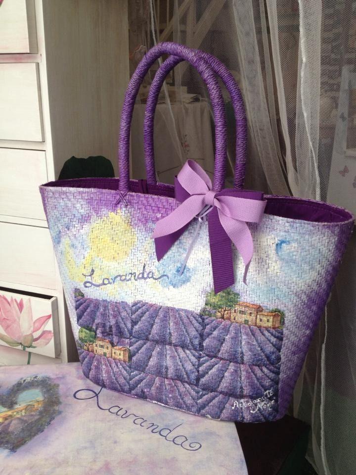 borsa di paglia creata interamente a mano : Altri accessori di artigianato-nene