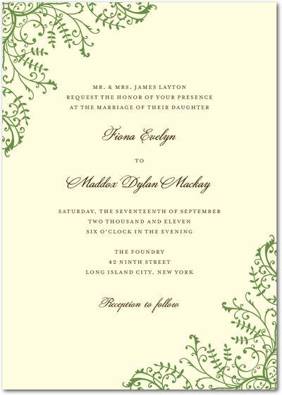 Signature Ecru Wedding Invitations - Fine Filigree by Wedding Paper Divas