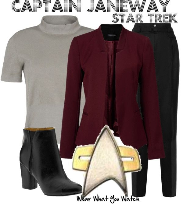 Captain Janeway from ST:VOY
