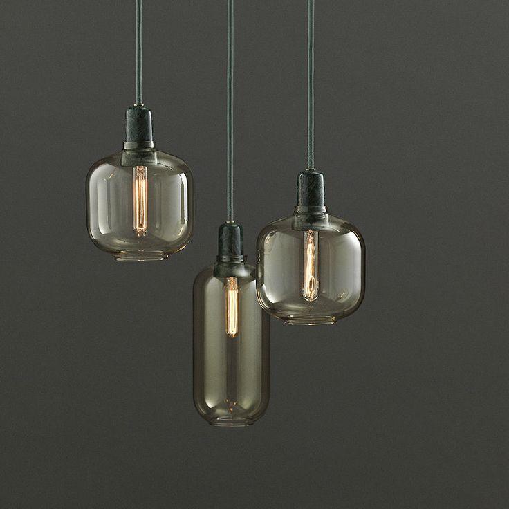 top3 by design - Normann Copenhagen - NM amp lamp large gold green