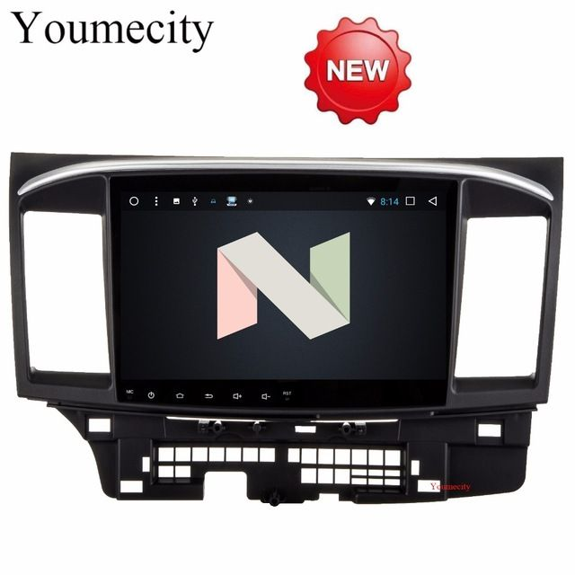 Cheapest Price $275.00, Buy Youmecity 2G RAM Android 7.1 2 DIN Car DVD GPS for MITSUBISHI LANCER 2008-2016 headunit video player wifi Radio video Stereo