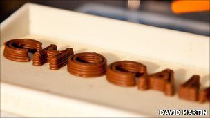 A 3D printer that uses chocolate has been developed by University of Exeter researchers - and it prints layers of chocolate instead of ink or plastic..